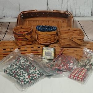 Longaberger Basket and Accessories Lot